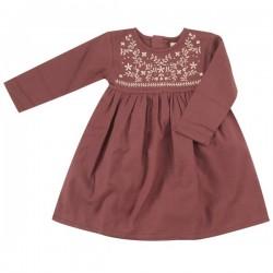 Pigeon - Bio Kinder Kleid mit Stickerei, rot