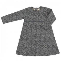 Pigeon - Bio Kinder Jersey Kleid mit Blätter-Motiv