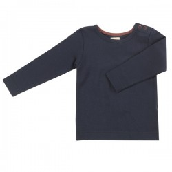 Pigeon - Bio Kinder Langarmshirt, dunkelblau