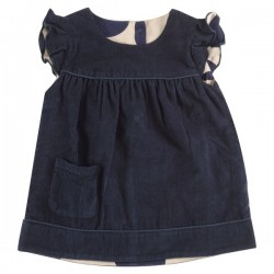 Pigeon - Bio Kinder Wende Kleid aus Cord, blau