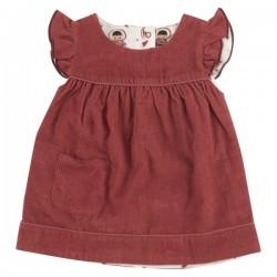 Pigeon - Bio Kinder Wende Kleid aus Cord, rot