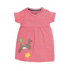 """frugi - Bio Baby Jersey Kleid """"Jade"""" mit Reh-Motiv und Streifen"""