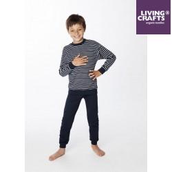 LIVING CRAFTS - Bio Kinder Schlafanzug langarm mit Streifen