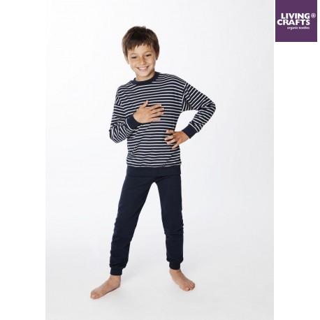 8f7ef5db5a LIVING CRAFTS - Bio Kinder Schlafanzug langarm mit Streifen ...