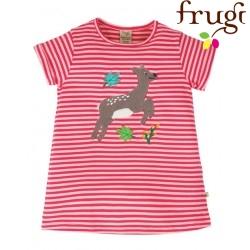 """frugi - Bio Kinder T-Shirt """"Sophie"""" mit Reh-Motiv und Streifen"""