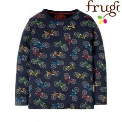 "frugi - Bio Kinder Langarmshirt ""Radley"" mit Fahrrad-Motiv"