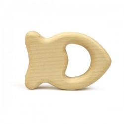 Grünspecht Naturprodukte - Baby Holz Edelsteinrassel Fisch