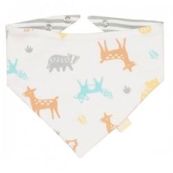 kite kids - Bio Baby Wende Tuch mit Wald-Allover und Streifen