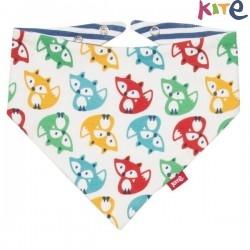 kite kids - Bio Baby Wende Tuch mit Fuchs-Allover und Streifen