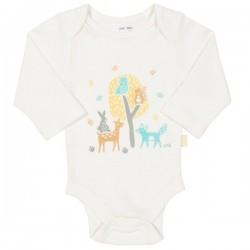 kite kids - Bio Baby Body mit Waldtieren-Motiv