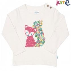 kite kids - Bio Kinder Langarmshirt mit Fuchs-Druck
