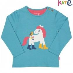 kite kids - Bio Kinder Langarmshirt mit Pony-Druck
