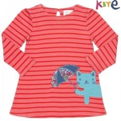kite kids - Bio Kinder Kleid mit Katzen-Motiv und Streifen