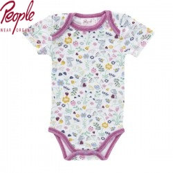 People Wear Organic - Bio Baby Body kurzarm mit Maus-Allover