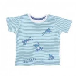 People Wear Organic - Bio Baby T-Shirt mit Frosch-Druck und Streifen