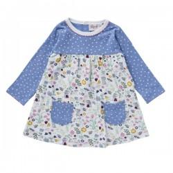 People Wear Organic - Bio Baby Kleid mit Hasen-Allover und Punkten