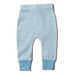 Little Green Radicals - Bio Baby Jersey Hose mit Streifen, hellblau