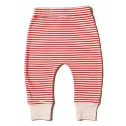 Little Green Radicals - Bio Baby Jersey Hose mit Streifen, rot