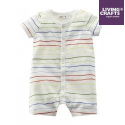 LIVING CRAFTS - Bio Baby Strampler gestreift