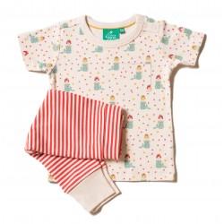 Little Green Radicals - Bio Baby Set Shirt und Hose mit Meerjungfrauen-Motiv und Streifen