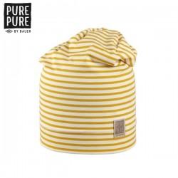 pure pure by BAUER - Bio Kinder Beanie Mütze mit Streifen, UPF 30-35