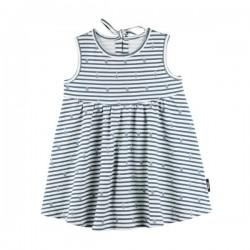 pure pure by BAUER - Bio Baby Jersey Kleid mit Streifen und Ananas-Druck, UPF 30-35