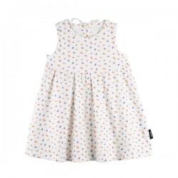 pure pure by BAUER - Bio Baby Jersey Kleid mit Schmetterlings-Druck, UPF 30-35