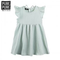 pure pure by BAUER - Bio Baby Musselin Kleid, UPF 30-35, pfefferminz