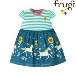 """frugi - Bio Baby Jersey Kleid """"Demelza """" mit Einhorn-Motiv und Streifen"""