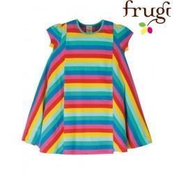 """frugi - Bio Kinder Jersey Kleid """"Elodie"""" mit Regenbogen-Streifen"""