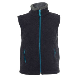 Reiff - Bio Kinder Fleece Weste, Wolle, anthrazit
