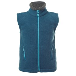 Reiff - Bio Kinder Fleece Weste, Wolle, pazifik