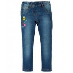 "frugi - Bio Kinder Jeggings ""Julie"" mit Blumen-Applikation"