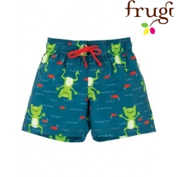 frugi - Baby Badeshorts mit Frosch-Motiv, UPF 50