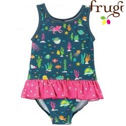 """frugi - Baby Badeanzug """"Little Coral"""" mit Meerestieren-Motiv, UPF 50+"""