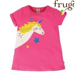 """frugi - Bio Kinder T-Shirt """"Lizzie"""" mit Einhorn-Applikation"""