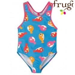 """frugi - Kinder Badeanzug """"Sally"""" mit Fisch-Motiv, UPF 50+"""