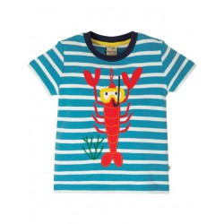 "frugi - Bio Kinder T-Shirt ""Sid"" mit Hummer-Applikation"