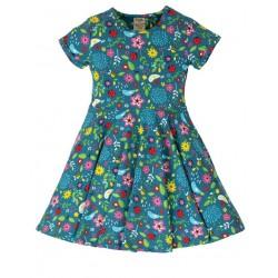 """frugi - Bio Kinder Jersey Kleid """"Spring"""" mit Gartenfreunde-Motiv"""