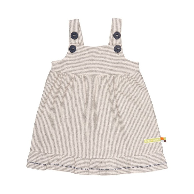 loud + proud - Bio Baby Jersey Kleid mit Streifen, grau ...