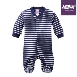 LIVING CRAFTS - Bio Baby Strampler, blau