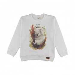 "Walkiddy - Bio Kinder Sweatshirt ""Save the Koala""-Druck"