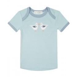 "Sense Organics - Bio Baby T-Shirt ""Tilly Retro"" mit Möwen-Applikation"