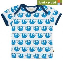 loud + proud - Bio Kinder T-Shirt mit Faultier-Druck