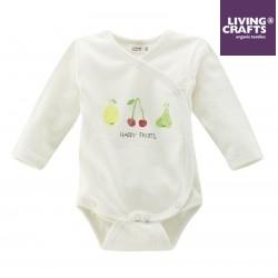 "LIVING CRAFTS - Bio Baby Wickelbody ""Happy Fruits"""