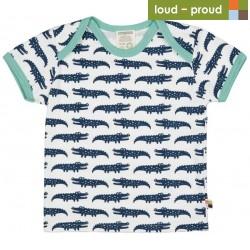 loud + proud - Bio Kinder T-Shirt mit Krokodil-Druck