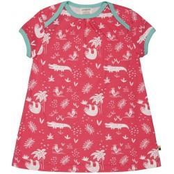 loud + proud - Bio Baby Jersey Kleid mit Dschungel-Druck, azalee