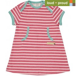 loud + proud - Bio Baby Jersey Kleid mit Streifen, azalee