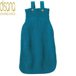 disana - Bio Baby Strick Schlafsack, Wolle, blau