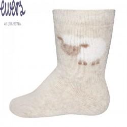 Ewers - Bio Baby Socken mit Schaf-Motiv, beige